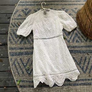 Beautiful White Crochet Style Dress